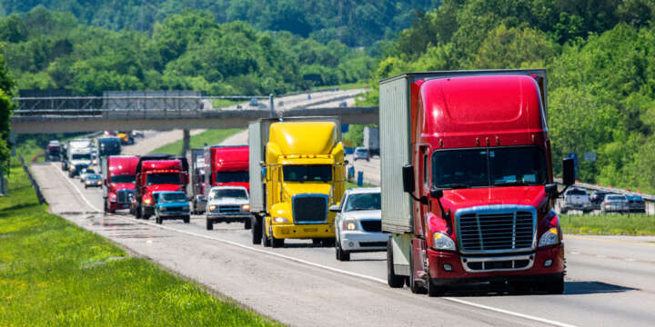 Truck Drivers Often Drive Too Fast in the Rain