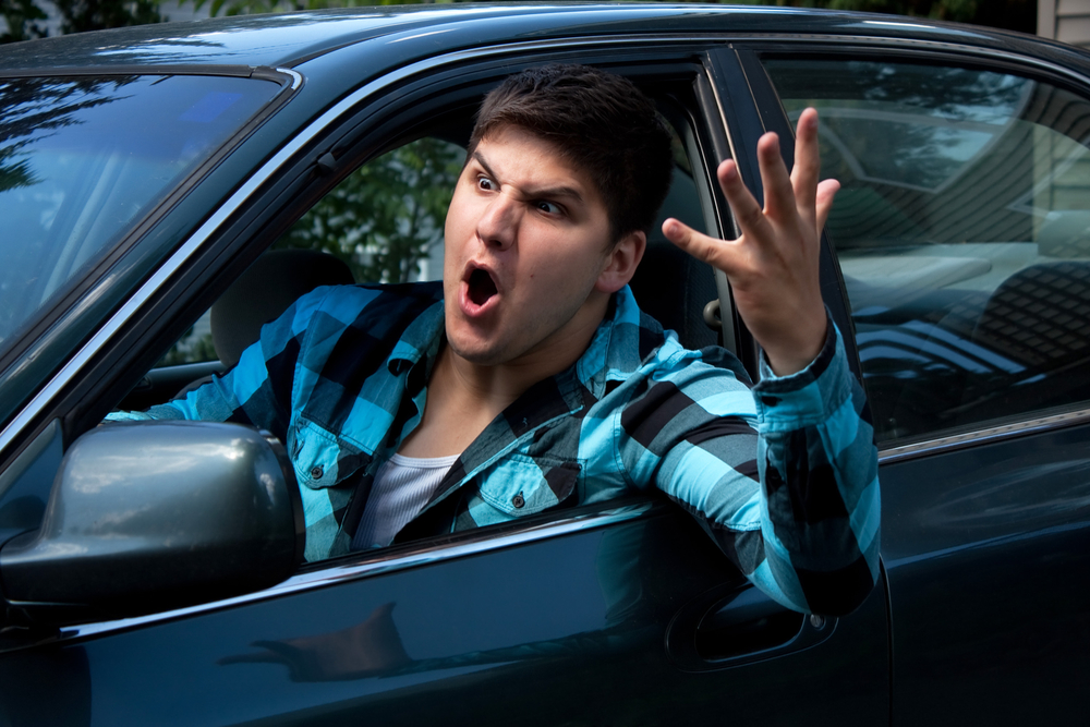 Road Rage During Rush Hour Traffic in Beverly Hills